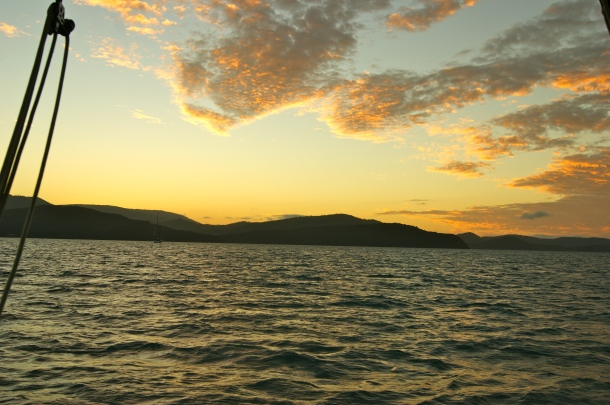 Photo by Anne Steinbach - Sunset from the boat