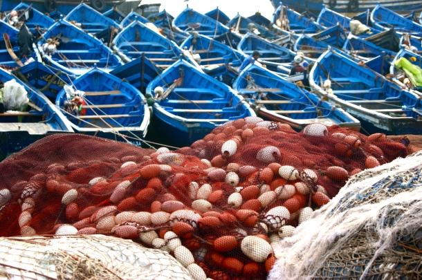 Photo by Anne Steinbach - Essaouira's harbor
